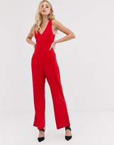 AX Paris v neck wide leg jumpsuit