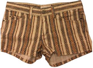 Etoile Isabel Marant Beige Cotton Shorts