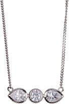 Cole Haan CZ Round & Teardrop Bar Pendant Necklace