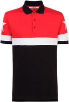 Givenchy star motif paneled polo shirt