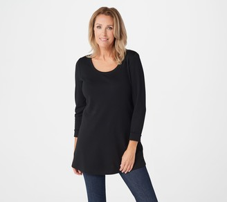 Isaac Mizrahi Live! Essentials Pima Cotton Long Sleeve Tunic