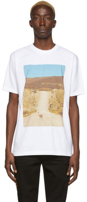 Marcelo Burlon County of Milan White Ostrich T-Shirt