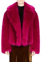 Dries Van Noten Short Faux Fur Cashmere Jacket