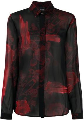 Just Cavalli Floral-Print Buttoned Shirt