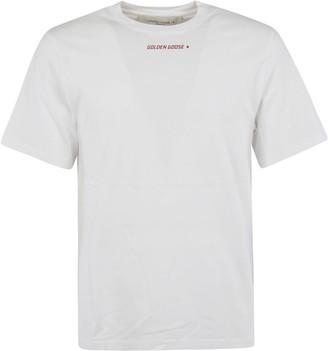 Golden Goose Logo Print Flag T-shirt