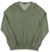 Polo Ralph Lauren Womens Knit Ribbed Trim V-Neck Sweater