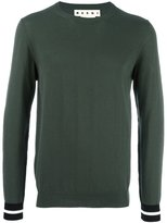 Marni striped cuff jumper - men - Cotton - 46