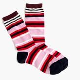 J.Crew Trouser socks in colorblock stripe