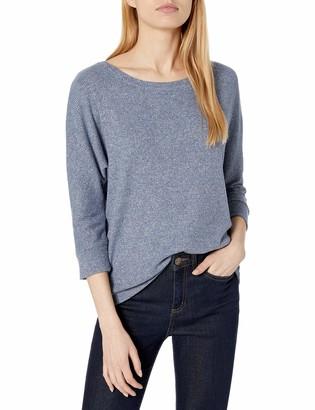 Daily Ritual Cozy Knit Rib Dolman 3/4 Sleeve Sweatshirt Shirt