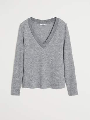 MANGO Knitted Long Sleeve Jumper