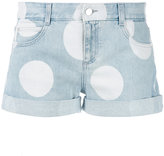 Stella McCartney polka dot denim shorts - women - Cotton/Spandex/Elastane - 25