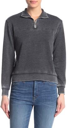 Alternative Burn Out Quarter Zip Sweatshirt