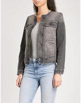 Zadig & Voltaire Kiok frayed faded stretch-denim jacket