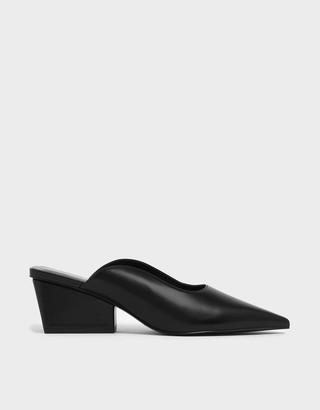 Charles & Keith Pointed Toe Wedge Heel Mules