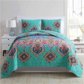 VCNY 3-pc. Damask + Scroll Quilt Set