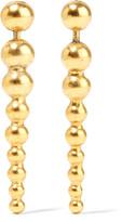 Elizabeth Cole Tamara gold-plated earrings
