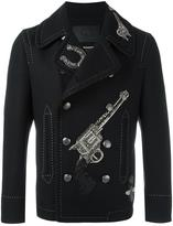 Dolce & Gabbana appliqué double breasted coat