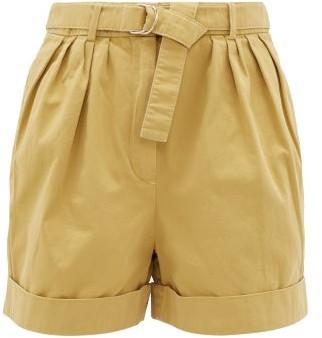 Acne Studios Rowanne Belted Cotton-twill Shorts - Beige