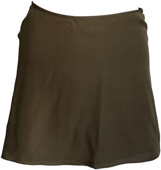 Roberta Furlanetto Khaki Silk Skirt for Women
