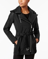 MICHAEL Michael Kors Petite Quilted-Sleeve Asymmetrical Coat
