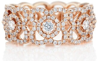 De Beers Rose Gold Enchanted Lotus Band