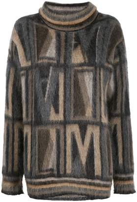Antonio Marras geometric intarsia jumper