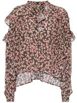 Isabel Marant Sibel printed silk top