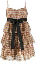 RED Valentino sequinned mesh dress