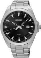 Seiko Mens Silver Tone Bracelet Watch-Sur209