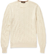 Loro Piana Jubilee Cable-knit Baby Cashmere Sweater - Cream