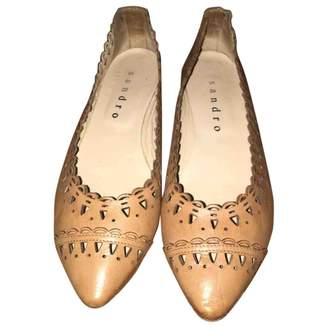 Sandro Beige Leather Ballet flats