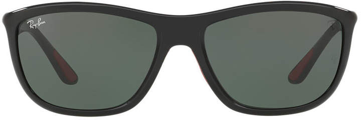 Ray-Ban Rb8351m 60 Ferrari Black Square Sunglasses