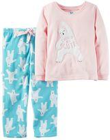 Carter's Girls 4-14 Microfleece Polar Bear Applique Top & Bottoms Pajama Set