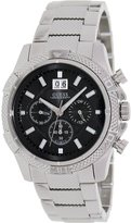 GUESS GUESS? Men's U0177G1 Silver Stainless-Steel Quartz Watch with Dial