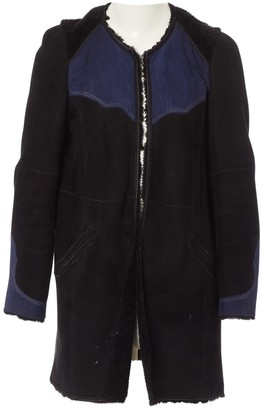 Isabel Marant Black Suede Coat for Women