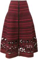 Fendi embroidered flared A-line skirt