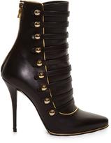 Balmain Alienor button-detail leather ankle boots