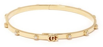 Gucci GG-logo Diamond & 18k Gold Bracelet - Yellow Gold