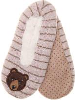 K. Bell Women's Bear Women's's Slipper Socks -Pink