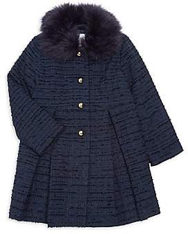 Janie and Jack Little Girl & Girl's Faux Fur Boucle Coat