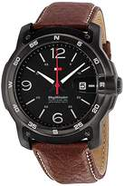 Tommy Hilfiger Men's 1790897 Brown Leather Analog Quartz Watch with Dial
