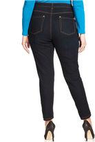 INC International Concepts Plus Size Jeans, Skinny Ankle-Length, Tikglo Wash