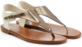 Sergio Rossi Leather and Rubber Sandals