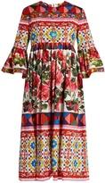 Dolce & Gabbana Carretto-print cotton midi dress