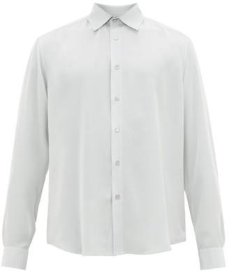 Edward Crutchley Relaxed Silk-habotai Shirt - Mens - Green