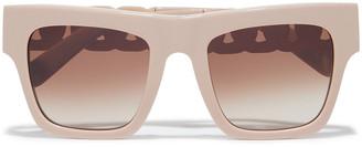 Stella McCartney Oversized Square-frame Acetate And Rose Gold-tone Sunglasses