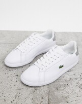 Lacoste Graduate 120 leather trainers in white with silver tabs