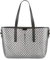 Off-White Off White PVC Net Shopper Tote Bag, Black