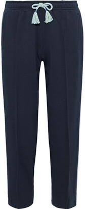 Rag & Bone Molly Cropped Striped French Cotton-terry Track Pants