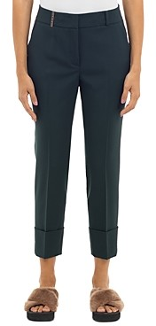 Peserico Straight Leg Ankle Trousers